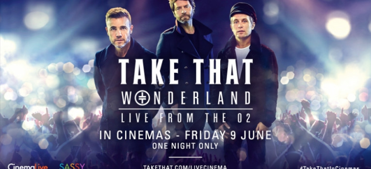 Take That: Wonderland Live from the O2 Banner